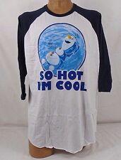 "Disney Frozen Men's Raglan Sleeve T-Shirt ""So Hot I'm Cool 2DNY1809RN XXL 518B"