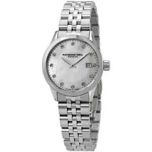 Raymond-Weil-Freelancer-Diamond-White-Mother-of-Pearl-Dial-Ladies-Watch
