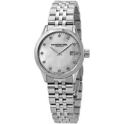 Raymond Weil Freelancer Diamond White Mother of Pearl Dial Ladies Watch