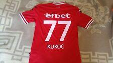 camiseta Cska Sofia Bulgaria Shirt Match Worn Kukoc Croatia Trikot L Maglia