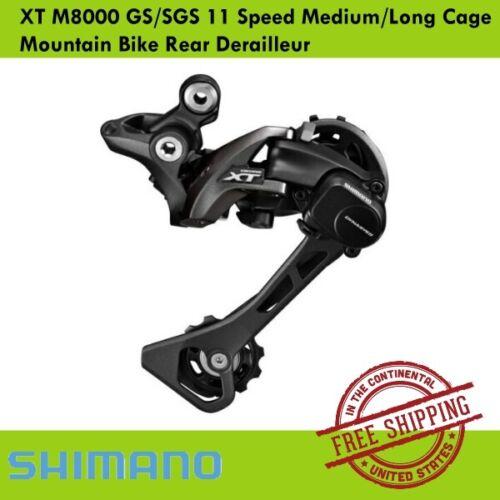 Shimano XT M8000 GS//SGS 11 Speed Medium//Long Cage Mountain Bike Rear Derailleur