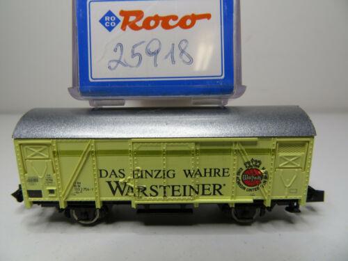 213N //12 Roco N 25918 Top in OVP Bierwagen gelb Warsteiner DB