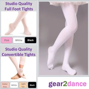 Childrens Convertible Ballet Tights Girls Dance Tights in Tan 60 Den Ages 3-13