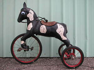 Horse-Tricycle-Pedal-Car-Tractor-American-National-Gendron-Steel-Craft-Eska