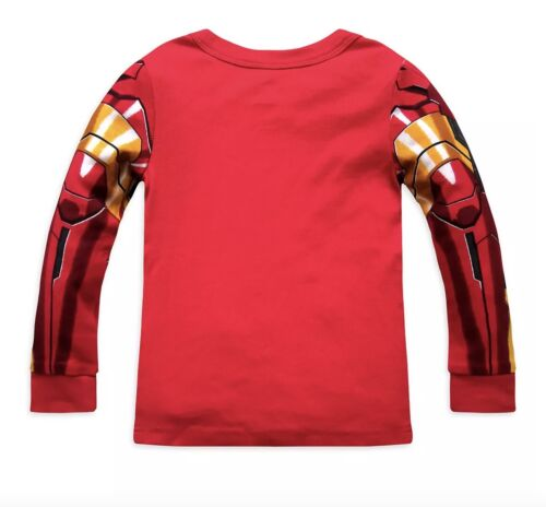 NWT Disney Store Boys Iron Man PJ Pal Long Sleeve Cotton Pajama Sleepwear