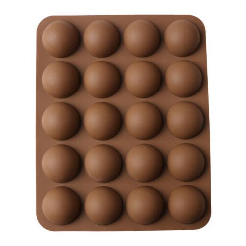 Half Ball Round Silicone Cupcake Muffin Chocolate Cake Baking Mould Pan Tray