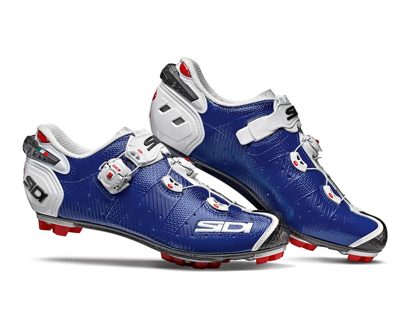 SIDI Drako  2 SRS Cycling shoes 2019 - bluee White [Size  3847 EUR]  zero profit