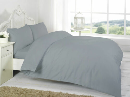 T200 Plain Dyed 100/% Egyptian Cotton Duvet Bedding Set Single//Double//King//S.King