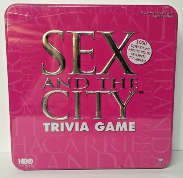 Cardinal industries sex and the city trivia game