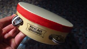 First Act Wooden Tambourine With Red Cloth Rim Outline Les Produits Sont Disponibles Sans Restriction