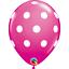 Wild-Berry-Pink-w-White-Polka-Dots-Set-of-12-11-034-Latex-Balloons thumbnail 1
