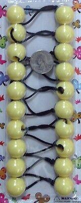 yellow Scrunchies jumbo clear bead hair tie girl Ball Ponytail Holders