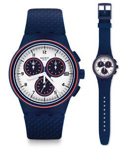 Swatch-Parabordo-Reloj-SUSN412-Analogo-Cronografo-Silicona-Azul-oscuro