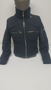 Marker-Ski-Jacket-SZ-4-Stylish-Black-Silver-Zippered-Pockets-Floral-Lined-NEW
