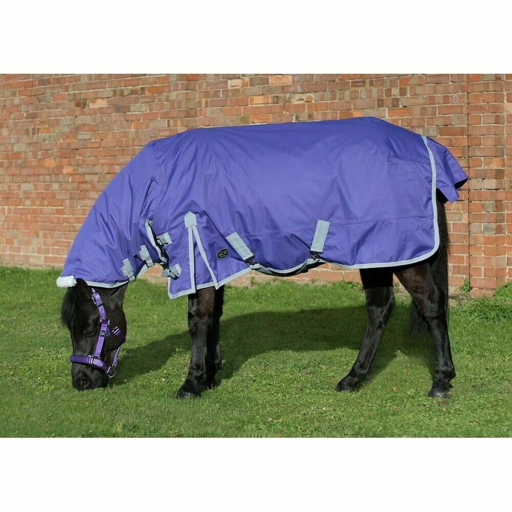 Mark Todd PONY MEDIUMWEIGHT COMBO Turnout Rug 220g 600d violet gris 4'3 -5'3