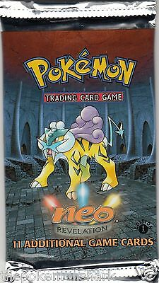 Pokemon 1st Edition Neo Revelation Booster Pack - Factory Sealed Raikou - NM/MT