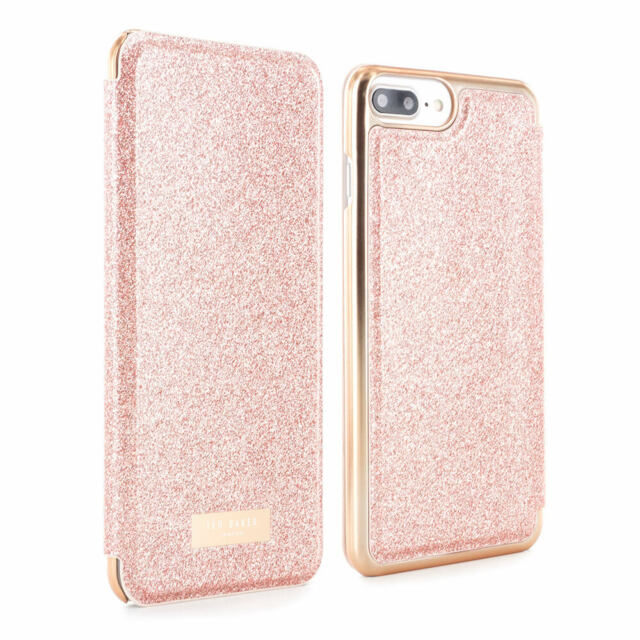 24d2eb864 OFFICIAL TED BAKER iPhone 8 Plus SPRITSIE Mirror Folio phone Case - Rose  Gold