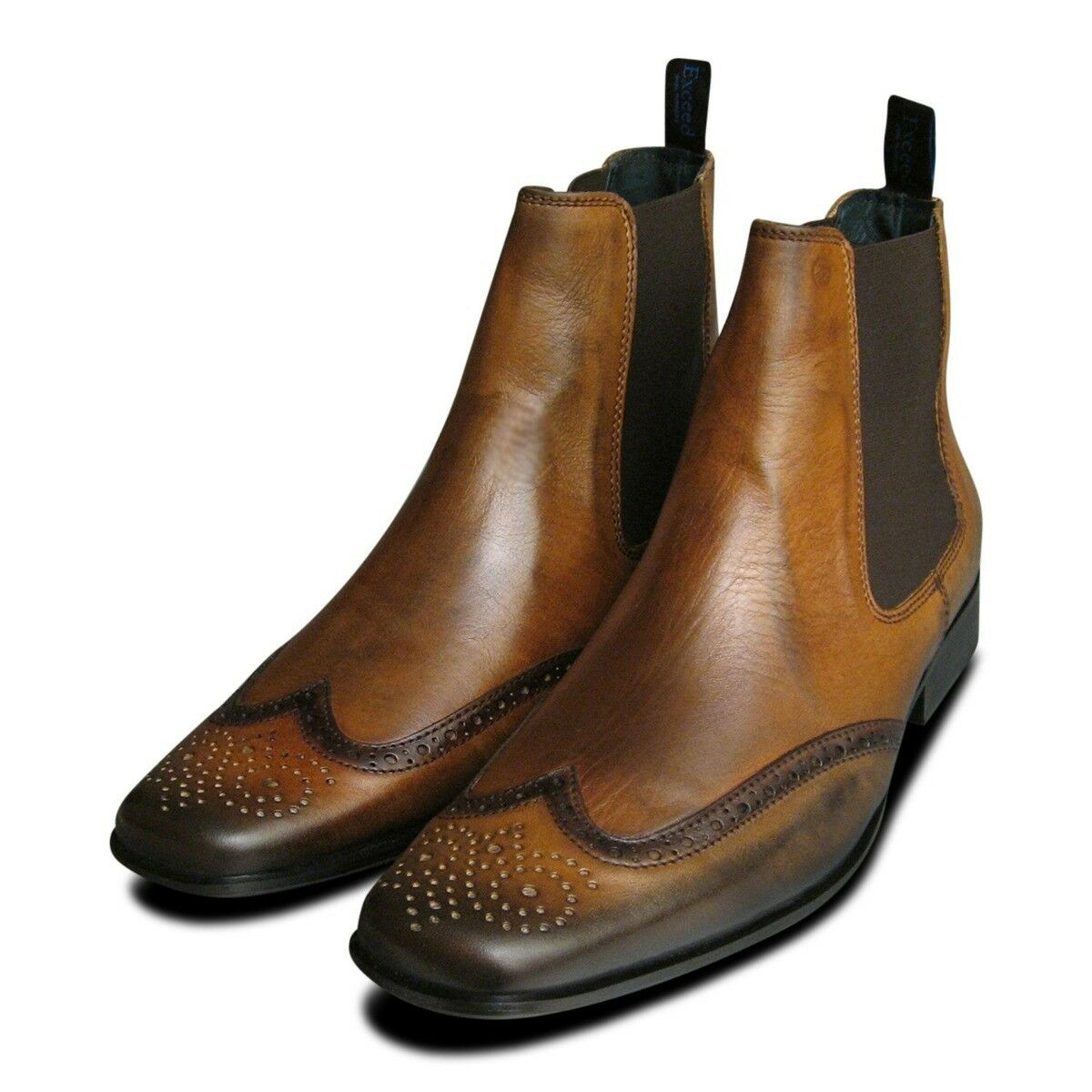 Tan Leather Mens Chelsea Stiefel Stiefel Stiefel by Exceed  8068c4