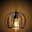 thumbnail 4 - Industrial-Vintage-Metal-Cage-Ceiling-Pendant-Light-Holder-Lamp-Shade-Fixtures