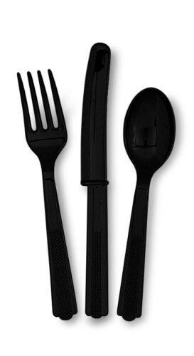 Cuchillo De Cubiertos De Plástico Fiesta Vajilla Tenedor Cuchara Surtidos color sólido diseño