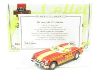 Matchbox-Collectibles-CCV06-B-M-Chevrolet-Corvette-1953-Escala-De-Coca-Cola-1-43