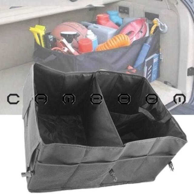 Black Multipurpose Auto Car Rear Cargo Organizer Folding Collapsible Storage Bag