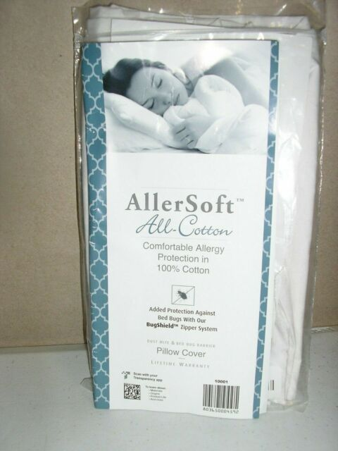 Dust Mite /& Allergy Control Pillow King Allersoft 100/% Cotton Bed Bug