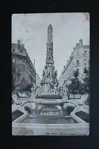Tarjeta-Postal-CPA-Lyon-El-Monumento-Carnot