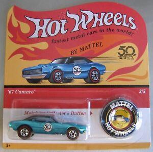 Hot-Wheels-2018-50th-Anniversary-1967-CAMARO-blue-Redline-with-button