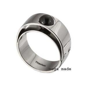 a08a654ae Black Onyx Wedding Band Engagement Titanium Ring Men Fashion Jewerly ...
