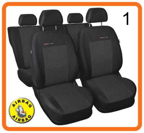 CAR SEAT COVERS full set fit Skoda Octavia charcoal grey