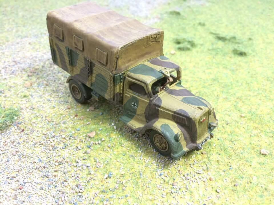 Seigneur de Guerre, bolt action, German Opel Blitz camion, Pro peint à la commande