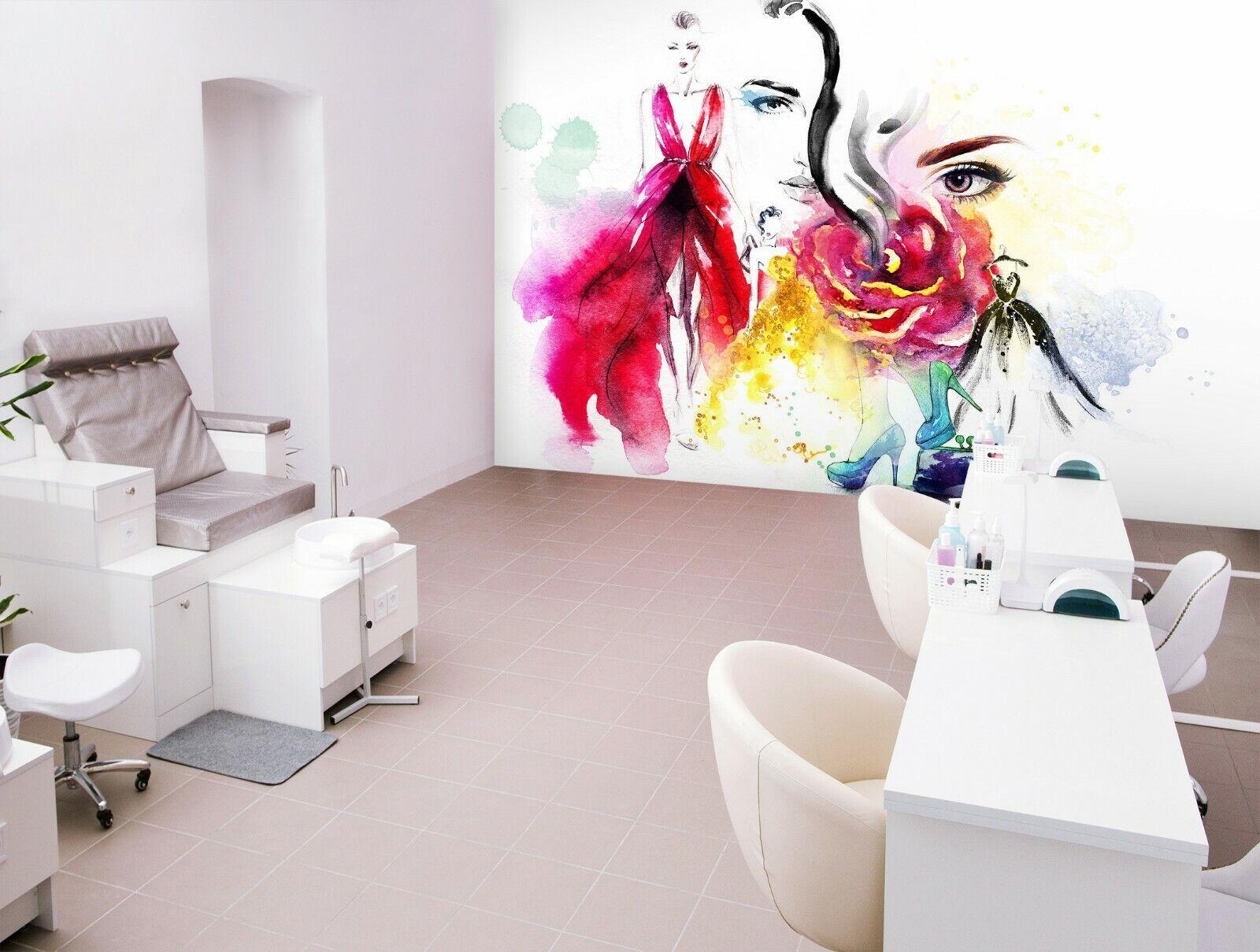 3D Graffiti-Mädchen M53 Geschäft Tapete Wandgemälde Selbstklebend Handel An