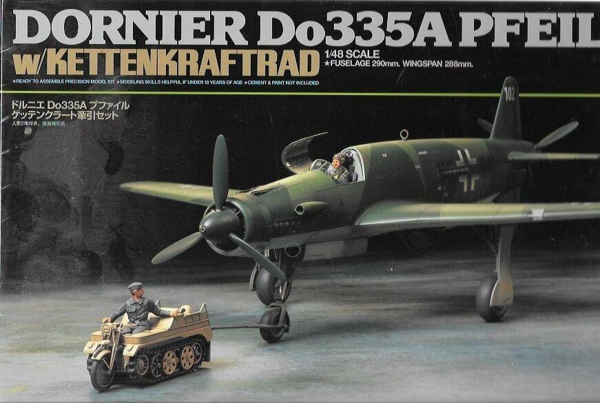 Tamiya Dornier Do335A Pfeil - w Ketenkraftrad Model Kit Tysk Airplan TA89598