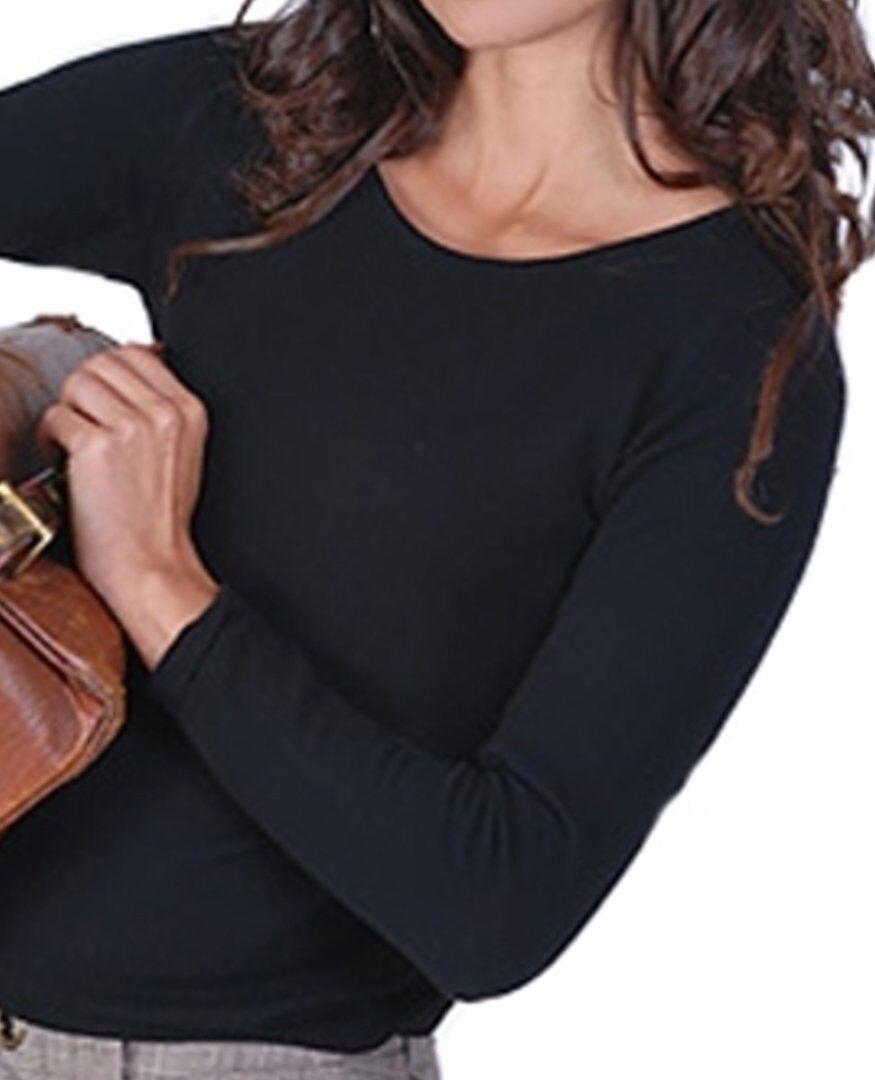 Balldiri 100% Cashmere Damen Pullover Rundhals 2-fädig schwarz XXL