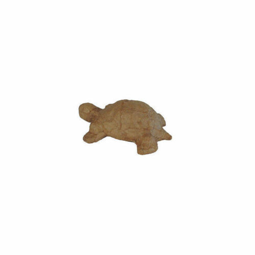12cm Pappmaché-Figur Motiv: Schildkröte ca Gr