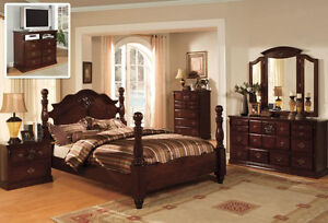 style queen king 4 pc set bedroom antique furnitur tucson cm7571