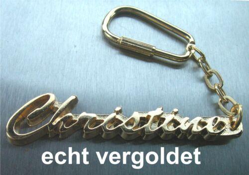 Classy Key Ring Christine Gold-Plated Gold Name Keychain Keychain