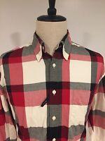 Gant Men's 'sport Plaid' Button Down Shirt Long Sleeve F/w Size Large
