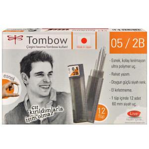 Tombow 0.5 - 0.7 mm 2B  Mechanical Pencil Leads Ultra-Polymer (12 X12)