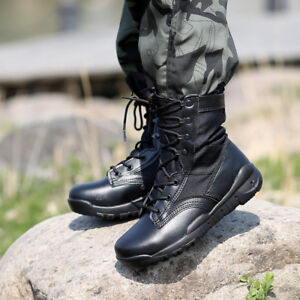 Image is loading Ultra-Light-Breathable-Tactical-Boots-Men-Police-Army- 4d230b1099b