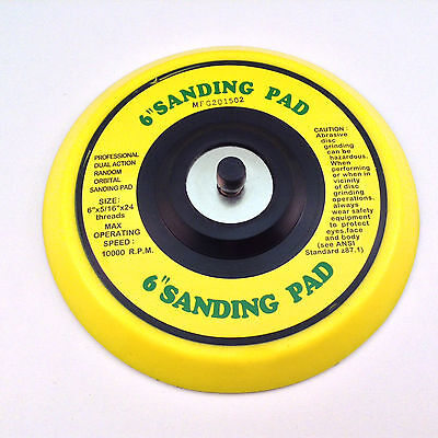 """6"""" DA Vinyl PSA Face Sanding Pad for Dual Action Sanders Use with Stick On Pads"""