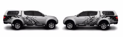 2x Mitsubishi Triton Mud 4x4 Splash Decal Kit does both sides