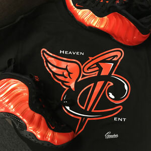 2e39a64eef9 Image is loading Shirt-Match-Foamposite-Habanero-Red-Foam-Heaven-Cent-