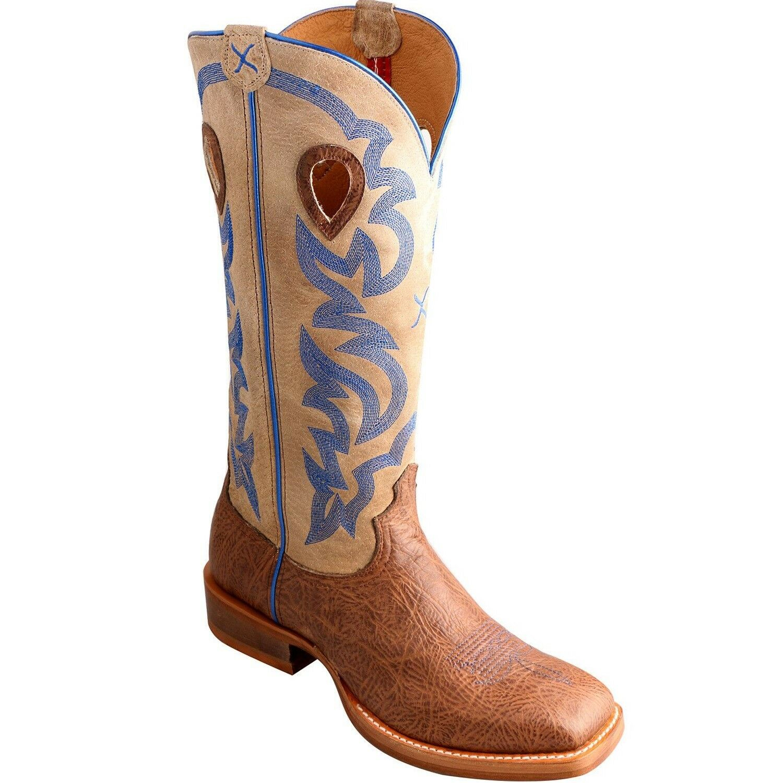 Twisted x Buckaroo Men's Crazy Horse Hombro Crema bota mbkl 012