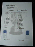1970-71 Bristol Rovers v Birmingham City League Cup 4th Round matchsheet