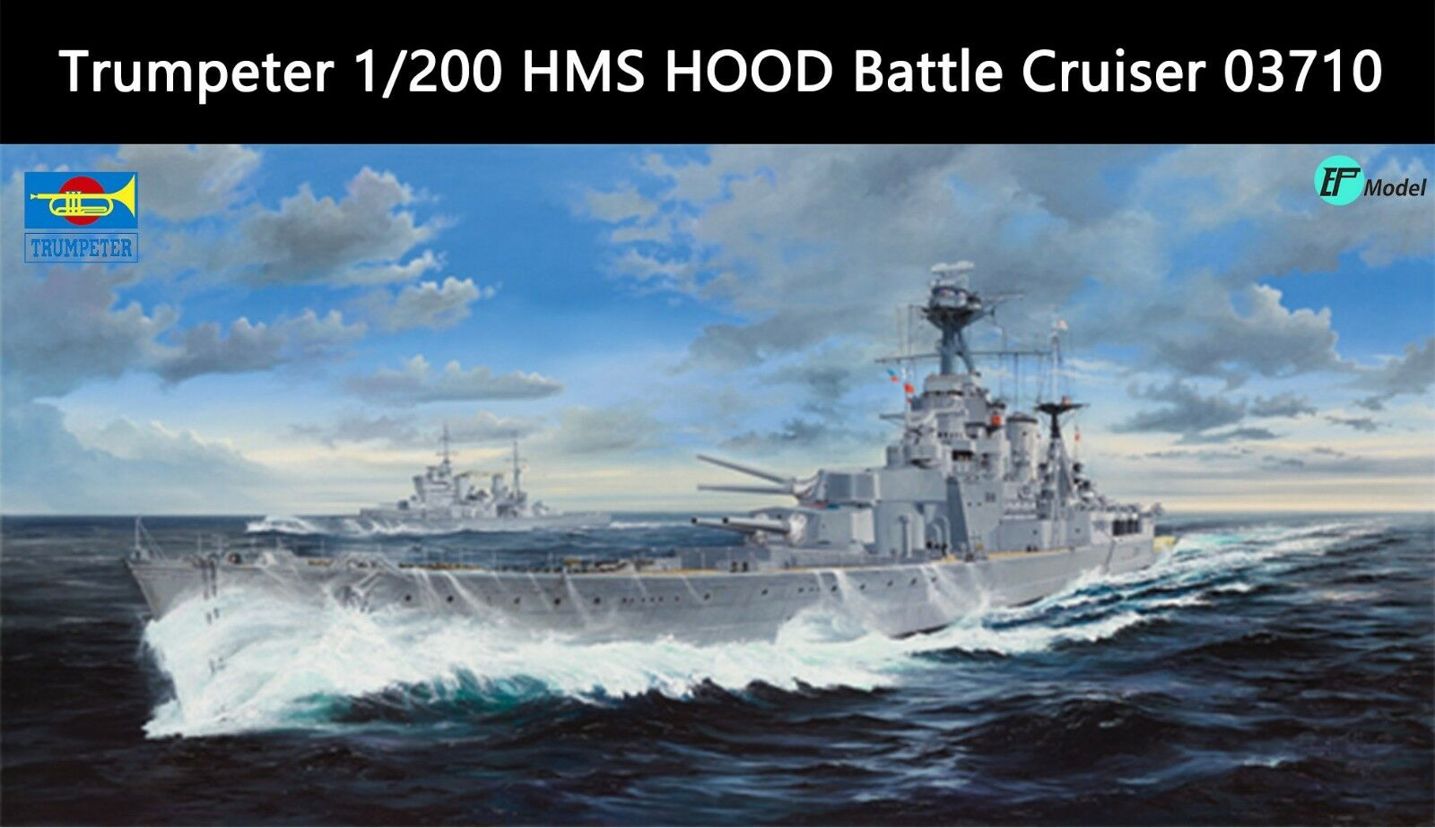 03710 Trumpeter 1 200 Model HMS Hood Battle Cruiser Warship Kit Plastc Boat
