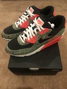 utterly stylish differently buying now Details about Nike Air Max 90 ID Size 11 Snakeskin Atmos Cement Pink  Powerwall BRS