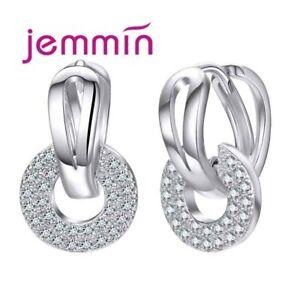 Klapp-Creolen-Doppelreihen-echt-Sterling-Silber-925-Damen-Kreolen-Ohrringe