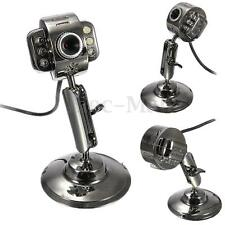 New Metal USB HD 6 LED Night Vision Webcam Camera Mic Microphone for Laptop PC